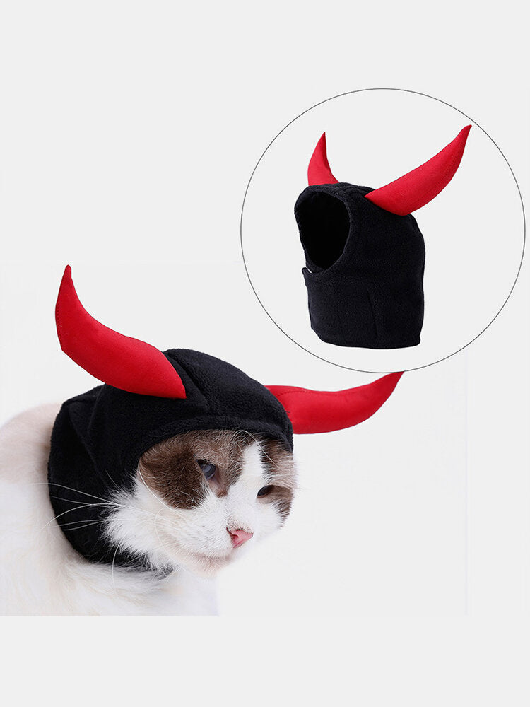 Christmas Pet Supplies Cat Pet Headgear Cat Puppy Horns Transformation Hat Headscarf