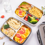 304 Stainless Steel Lunch Box With Dinnerware Leak-proof Lunch Bento Boxes Microwave Food Container