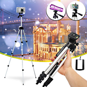 Universal Professional Camera Tripod Stand Mount + Phone Holder for iPhone