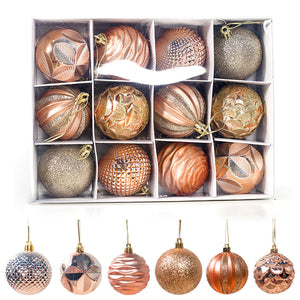 12Pcs 6cm Creative Colorful Christmas Tree Decoration Balls Home Living Room Christmas Decor