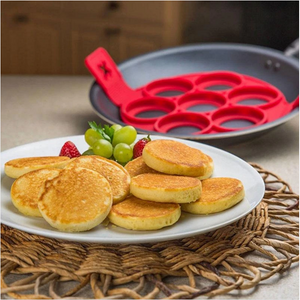 7-Hole Pancake silicone Mold Round Omelette Mold Non-Stick Clamshell Pancake Tool