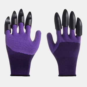 1 Pair Safety Gloves Garden Gloves Rubber TPR Thermo Plastic Builders Work ABS Plastic Claws