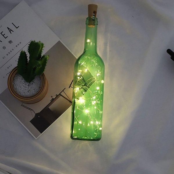 7 Types LED String Lights Wine Bottle Champagne Cork String Light LED Light for Home Party Decor
