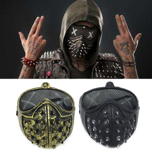 Halloween Punk COS Mask Anime Stage Performance Ghost Step Rivets Death Watch Dog Mask