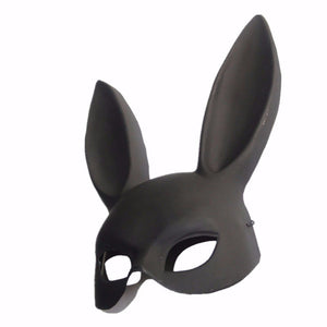 Women Girls Party Rabbit Ear Mask Halloween Costume Props Dance Masquerade Ball