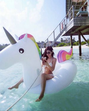 Unicorn Inflatable Pool Float Donut Pool Float Outdoor PVC / Vinyl 1 pcs Kid's Adults' All Toy Gift