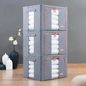 66L Large 600D Oxford Storage Box House Organizer Bag for Clothes Quilts