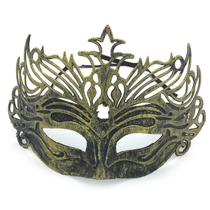 Halloween Antique Mask Prom Men's Ancient Roman Warrior Crown Party Decoration Supplies