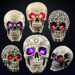 Halloween Human Prop Resin Skull LED Night Lights Decorative Novelty Pranksters Halloween Supplies