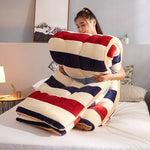 4Kg Thicken Lamb Cashmere Blanket Winter Soft Warm Bed Quilt for Bedding Single Full Queen King Size