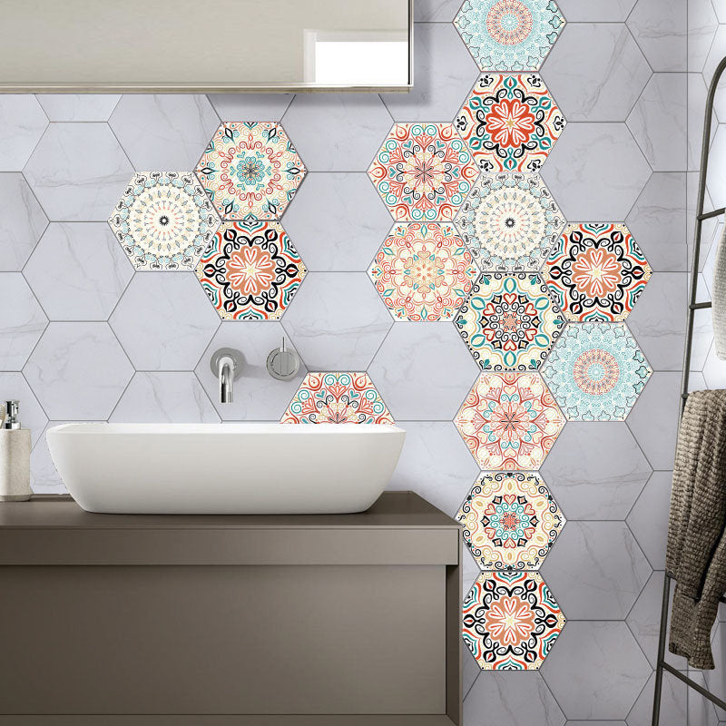 3D Wall Sticker 10Pcs/Set Self Adhesive Ceramic Tiles DIY Bathroom Kitchen Wall Floor Decal