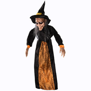 Hanging Witch Animated Voice-control Halloween Prop