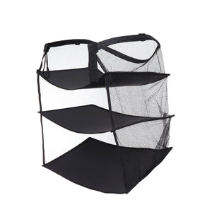 3 Layers Portable Travel Storage Bag Hook Hanging Nylon Mesh Bag Storage +Hooks