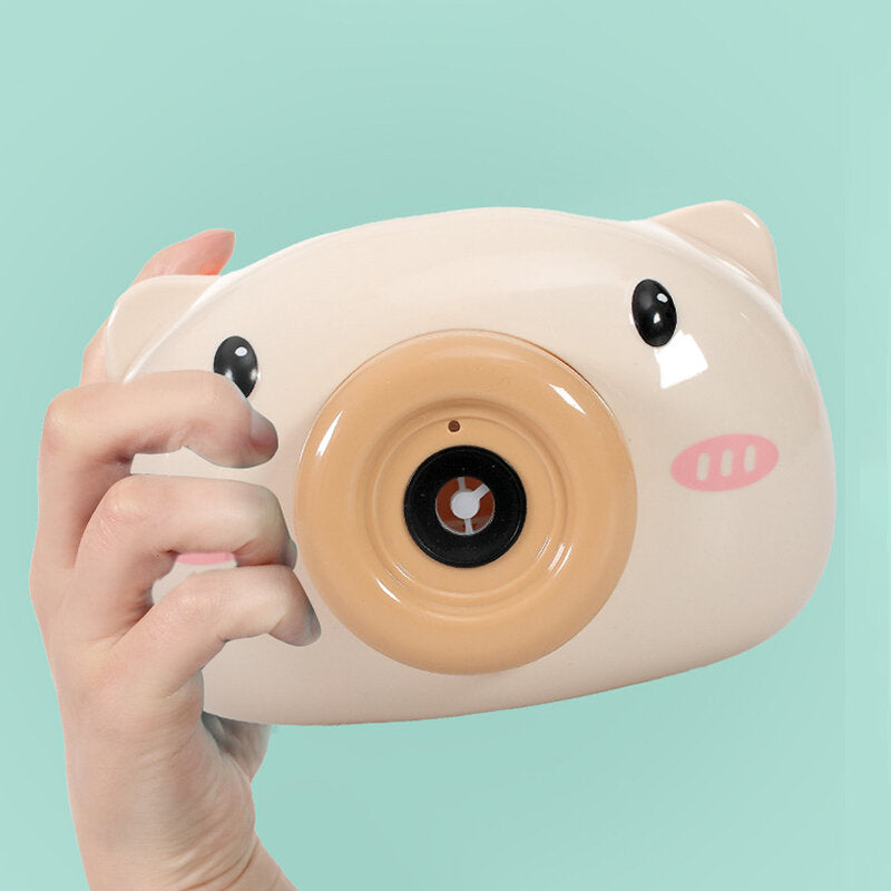 Automatic Funny Cute Cartoon Pig Animal Soap Children Bubble Maker Camera Bath Wrap Machine Toys Bubble Gifts for Kids and Girls