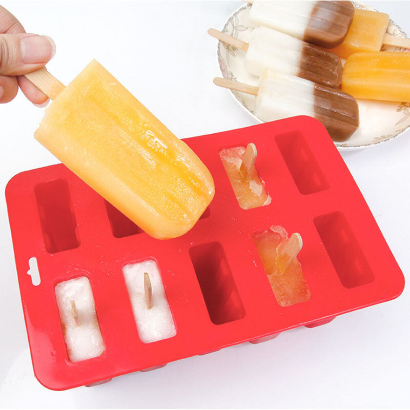 10 Freezer Ice Lolly Maker Tray Cream Yogurt Mold Maker Mould