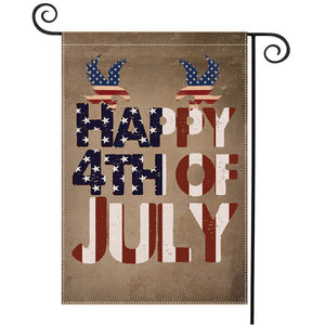 Banner Independence Day Double-Sided Printing Garden Banner To Map