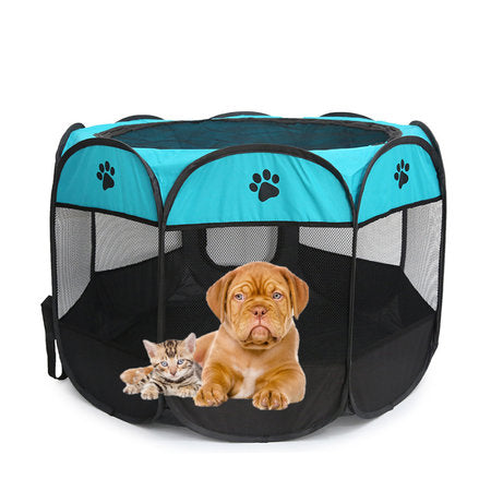 Portable Pet Pen Pet Dog Cat Playpen Cage Crate Foldable Washable