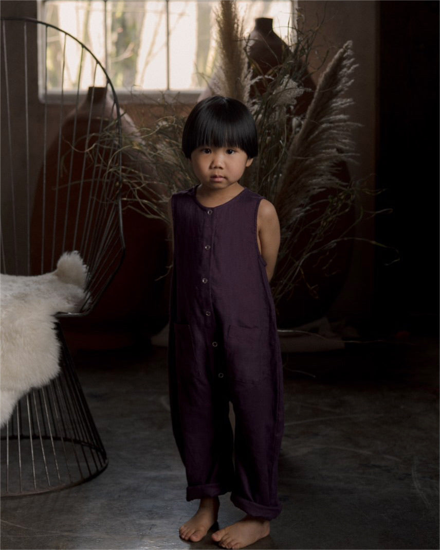 JUNE JUMPSUIT, EGGPLANT