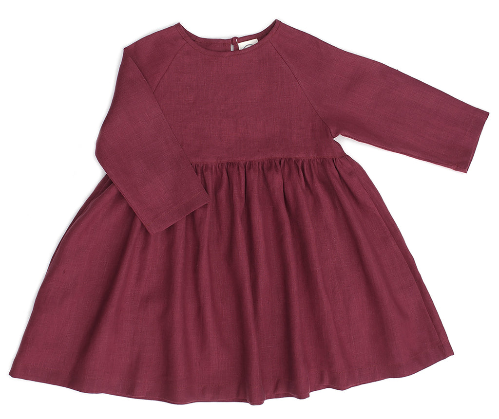 RAGLAN DRESS, WINE