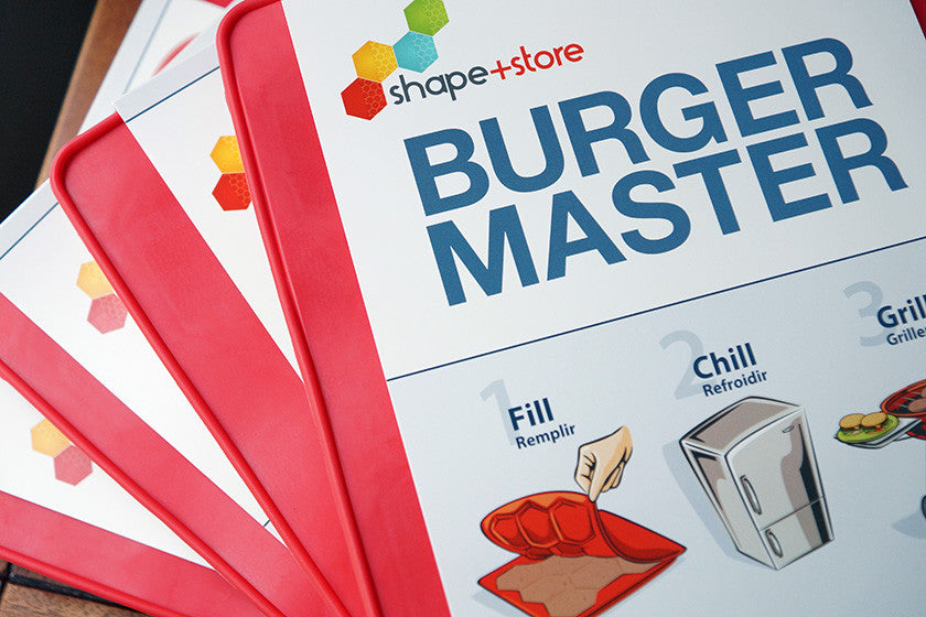 Burger Master Bundle with 4 Burger Masters with packaging