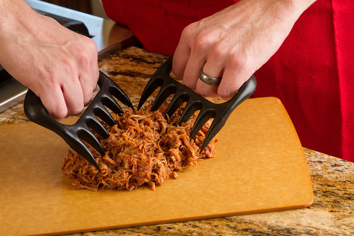 Using the Bear Paws to shred meat