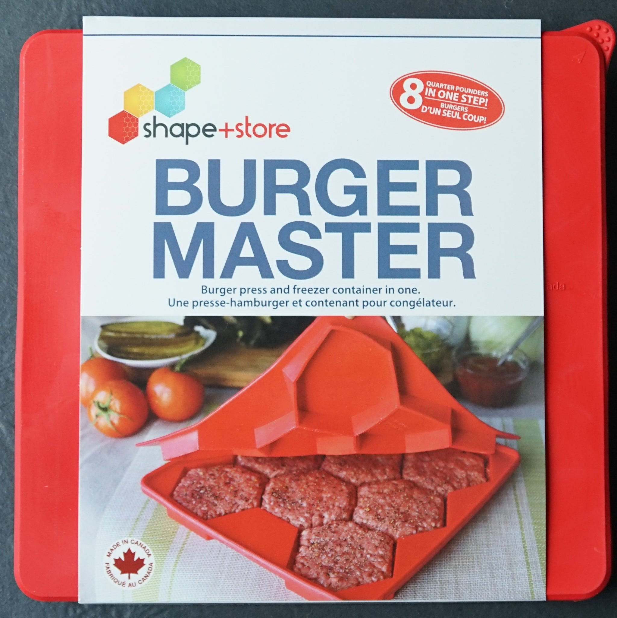 Burger Master® 8-in-1 Burger Press and Freezer Container