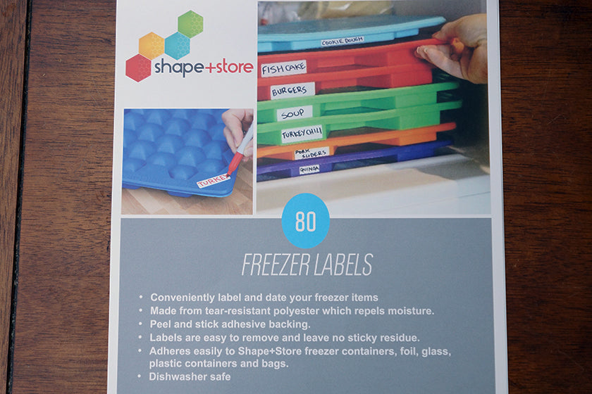 Set Of 80 Freezer Safe Labels Shape And Store
