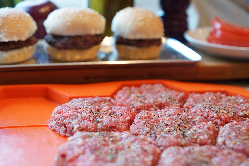 Burger Master Sliders with sliders in background
