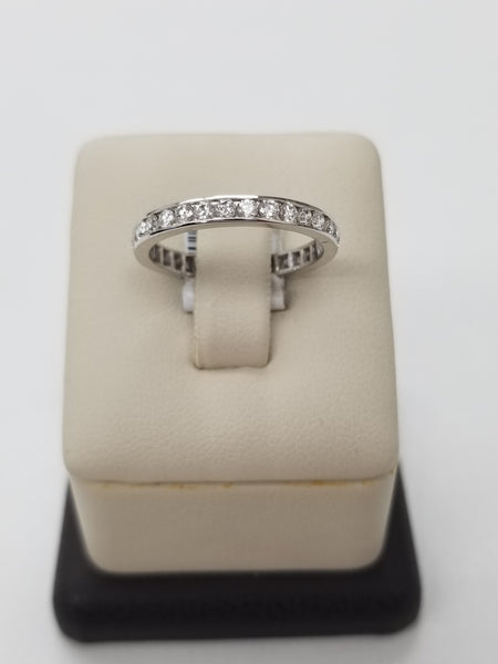 14K White Gold Diamond Eternity Ring