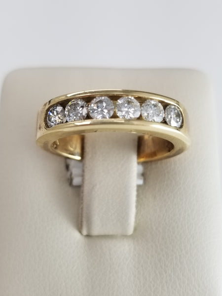 14K Yellow Gold Six Diamond RIng