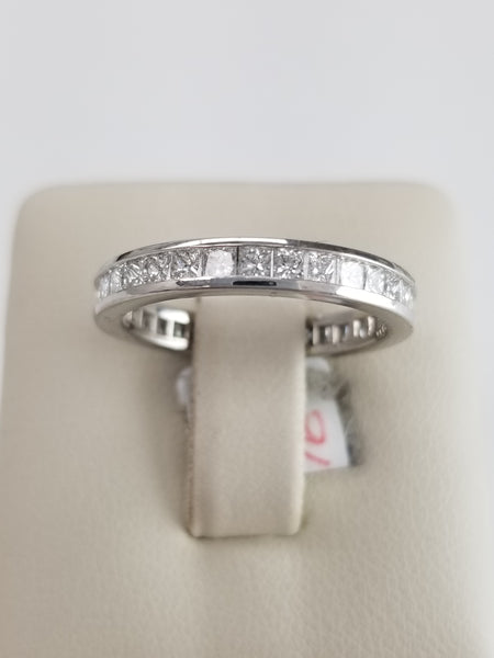 Platinum Princess Cut Diamond Eternity Ring