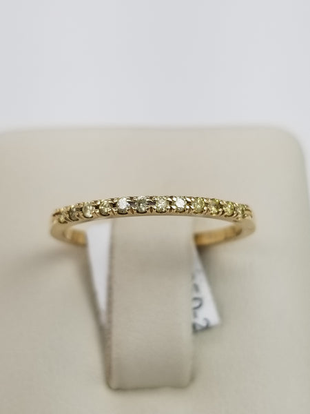 14K Yellow Gold Yellow Diamond Ring