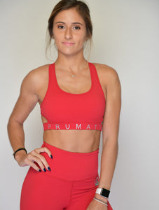 Women's Sports Bra Top | Flirty Cutout Woman's Sport Top | Jester Red