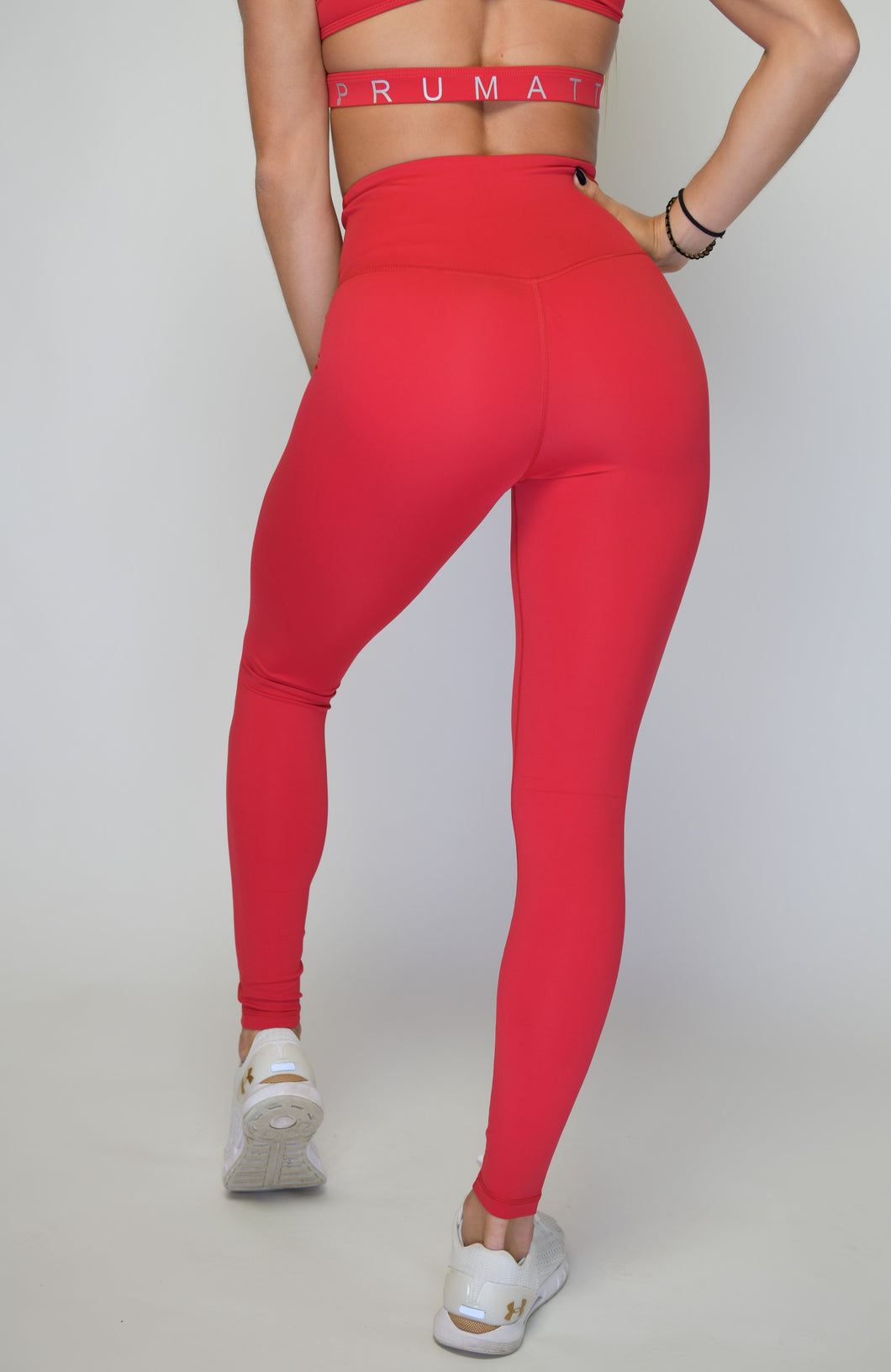 Women's Performance Stretch Bottoms High Rise | High Waist Leggings  | Jester Red