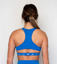 Load image into Gallery viewer, Women's Sports Bra Top | Flirty Cutout Woman's Sport Top | Princess Blue