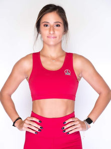 Women's Sports Bra | Full Coverage Crop Style Sporty Top | Jester Red