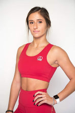 Load image into Gallery viewer, Women's Sports Bra | Full Coverage Crop Style Sporty Top | Jester Red