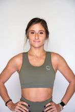 Load image into Gallery viewer, Women's Sports Bra | Full Coverage Crop Style Sporty Top | Terrarium Moss