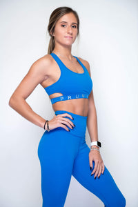 Women's Sports Bra Top | Flirty Cutout Woman's Sport Top | Princess Blue