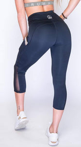 Women's Performance Booty Lift Leggings | Performance Stretch Pants | Black