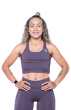 Load image into Gallery viewer, Women's Sports Bra | Full Coverage Crop Style Sporty Top | Purple