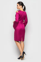 Load the image into the gallery viewer, cocktail dress TASHA in fuchsia