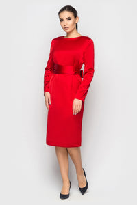 Elegant evening dress LIAN in Ferrari red