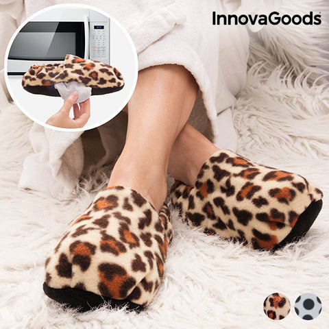 Image of Pantoufles Chauffables au Micro-Ondes Jungle InnovaGoods