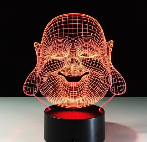 Image of Lampe bouddha 3d led