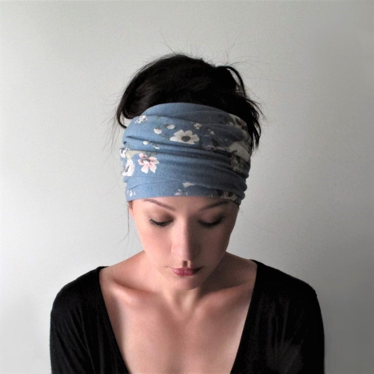 southwestern blue ecoshag head wrap