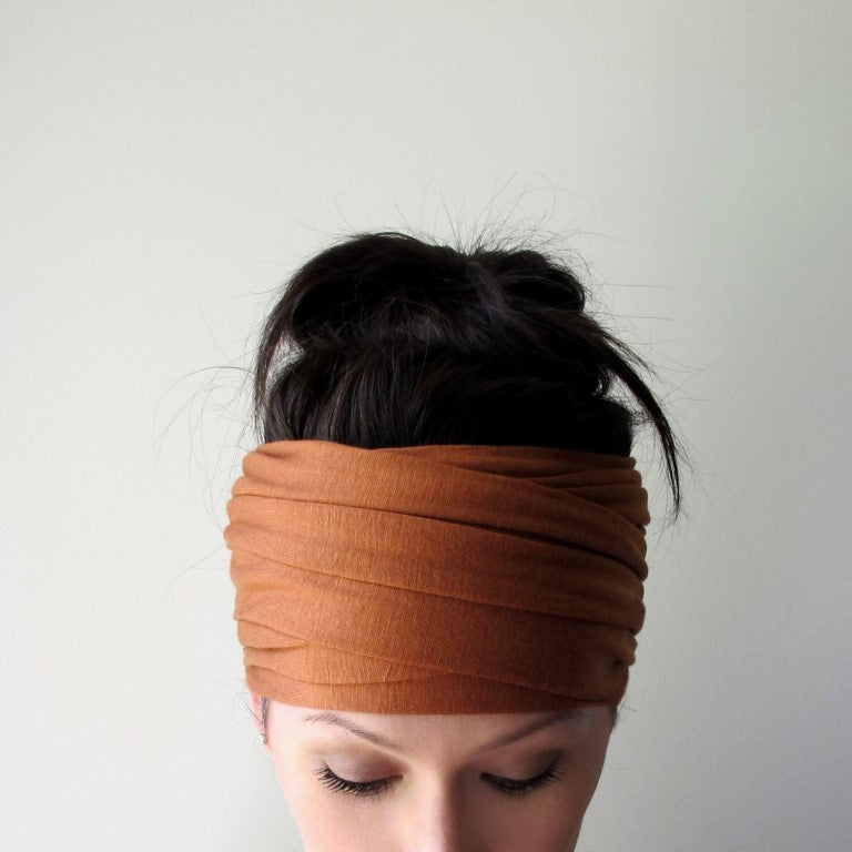 ecoshag burnt orange boho headscarf