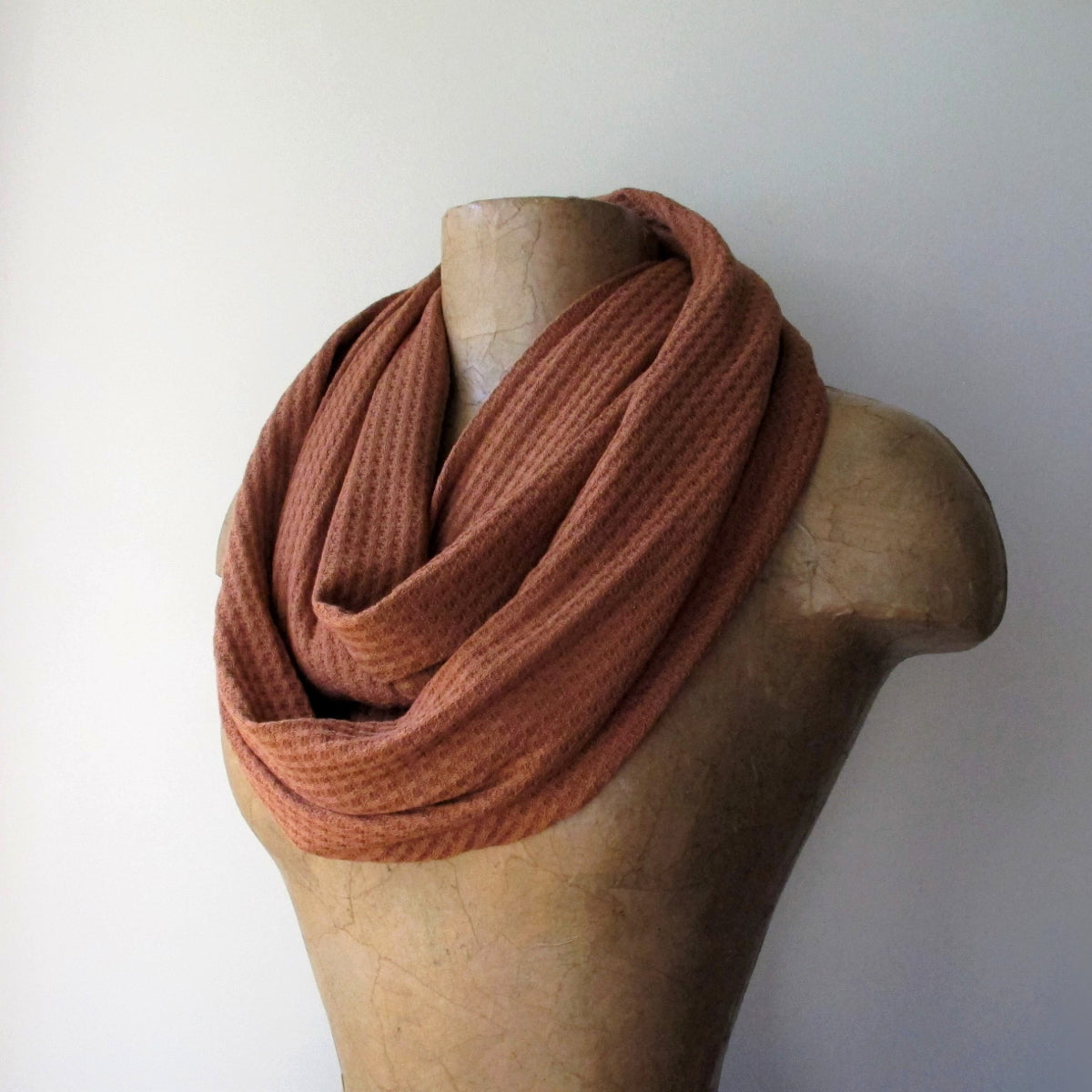 ecoshag burnt orange scarf