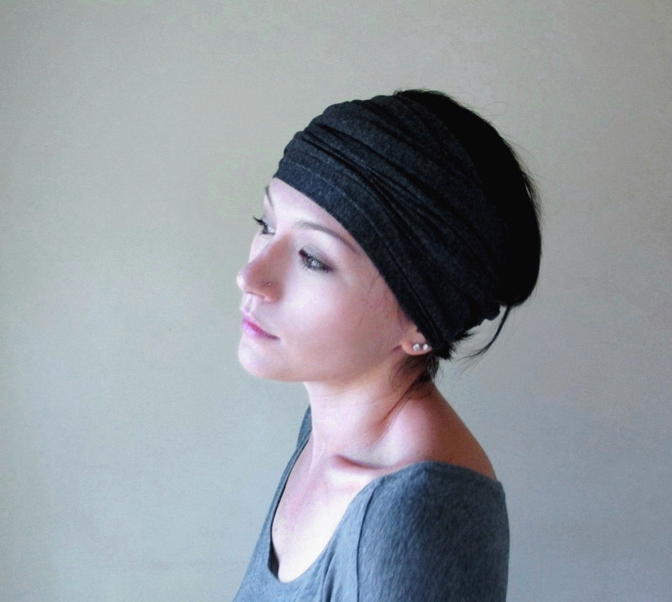 charcoal grey head scarf ecoshag