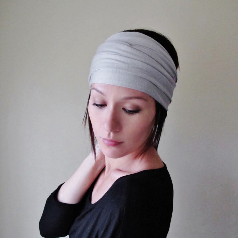 ecoshag dove gray headband